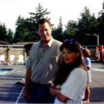 1992 Gary and Kathy at Bayside Pool opening