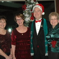 2012 Comus Holiday Denise Millie Fred and Kathy